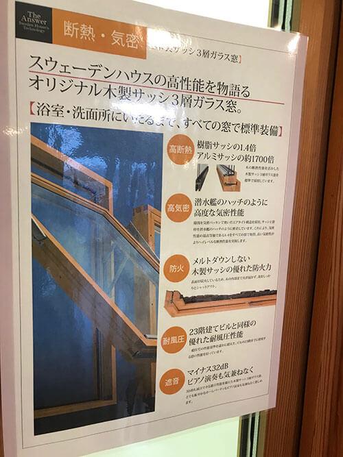 木製サッシ3層ガラス窓の説明
